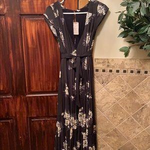 Free People Black Combo Dress 2